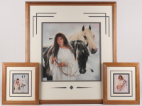 "Lot of (3) Maija Custom Framed Print Displays With (1) Signed & Inscribed ""Best Wishes"" (PA LOA) at PristineAuction.com"