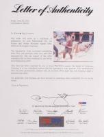 Muhammad Ali, Joe Frazier & Arthur Mercante Sr. Signed 31x36 Print On Board (PSA LOA) at PristineAuction.com