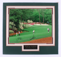"Jack Nicklaus & Arnold Palmer Signed ""The Masters"" 24.25.5 Custom Matte Photo Display (JSA ALOA)"