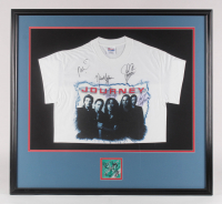 Journey Custom Framed 34x37 T-Shirt Display with Ticket Signed by Steve Augeri, Neal Schon, Ross Valory, Deen Castronovo, Jonathan Cain (JSA ALOA) at PristineAuction.com