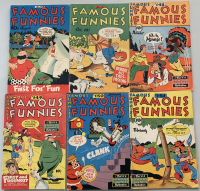 """Lot of (6) 1946-1947 """"Famous Funnies"""" Comic Books with #145 & #147-151"""