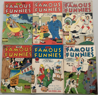 """Lot of (6) 1947-1948 """"Famous Funnies"""" Comic Books with #158-160, #162 & #164-165"""