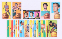 Lot of (24) 1970-71 Topps Basketball Cards with #13 Pat Riley, #75 Lew Alcinfor, #137 Calvin Murphy, #160 Jerry West, & #1 1969-70 Scoreing Leaders / Lew Alcindor / Jerry West / Elvin Hayes