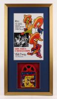 """Los Tres Caballeros"" 17x32 Custom Framed Poster Display with Vintage Film Reel"