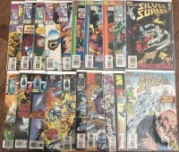 """Lot of (39) 1987 """"Silver Surfer"""" 2nd Series Marvel Comic Books with #85-145 & 1997 Annual #1-6"""