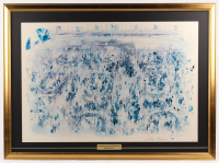 "LeRoy Neiman Signed ""The New York Stock Exchange"" 30.5x41.5 Custom Framed Cut Display (PSA COA)"