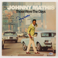 """Johnny Mathis Signed """"Those Were The Days"""" Vinyl Record Album Cover (Beckett COA)"""