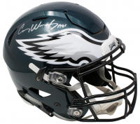 "Carson Wentz Signed Philadelphia Eagles Full-Size Authentic On-Field Speedflex Helmet Inscribed ""AO1"" (Fanatics Hologram) at PristineAuction.com"