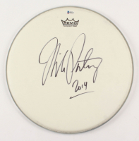 """Mike Portnoy Signed 14.5"""" Drum Head Inscribed """"2014"""" (Beckett COA)"""