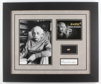 Albert Einstein 19.5x23.5 Custom Framed Display with (1) Hand-Written Word From Letter (JSA LOA Copy)