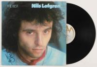 """Nils Lofgren Signed """"The Best"""" Vinyl Record Album Cover (JSA COA)"""