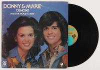 """Marie Osmond Signed """"Make the World Go Away"""" Vinyl Record Album Cover (JSA COA)"""