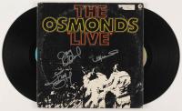 """Merrill Osmond, Jay Osmond & Jimmy Osmond Signed """"The Osmonds Live"""" Vinyl Record Album Cover (JSA COA)"""