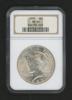 1935 $1 Peace Silver Dollar (NGC MS 65)