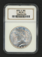 1926-S $1 Peace Silver Dollar (NGC MS 65)