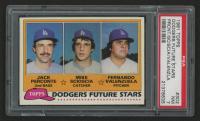 1981 Topps #302 Jack Perconte RC / Mike Scioscia RC / Fernando Valenzuela RC (PSA 7)