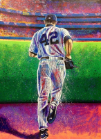 "Bill Lopa Signed ""Mariano Rivera"" Limited Edition 30x40 Hand-Embellished Giclee on Canvas (PA LOA)"