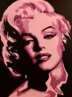 "Bill Lopa Signed ""Marilyn Monroe"" Limited Edition 30x40 Hand-Embellished Giclee on Canvas (PA LOA)"