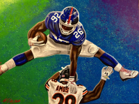 "Bill Lopa Signed ""Saquon Barkley"" Limited Edition 30x40 Hand-Embellished Giclee on Canvas (PA LOA)"