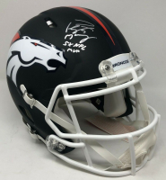 "Peyton Manning Signed Denver Broncos Limited Edition Custom Matte Black Full-Size Authentic On-Field Speed Helmet Inscribed ""5x NFL MVP"" (Fanatics Hologram) at PristineAuction.com"