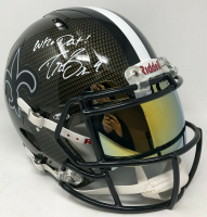 "Drew Brees Signed New Orleans Saints Full-Size Authentic On-Field Hydro Dipped Speed Helmet with Visor Inscribed ""Who Dat!"" (Steiner COA) at PristineAuction.com"