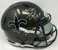 """Drew Brees Signed New Orleans Saints Full-Size Authentic On-Field Hydro Dipped Speed Helmet with Visor Inscribed """"Who Dat!"""" (Steiner COA) at PristineAuction.com"""