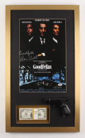 "Henry Hill Signed LE ""Goodfellas"" 17x29 Custom Framed Print Inscribed ""Goodfella"" with Replica Prop Money & Gun (PSA COA) at PristineAuction.com"