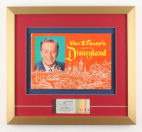 Disneyland 17x18.5 Custom Framed 1963 Guide Book Display with Ticket Booklet