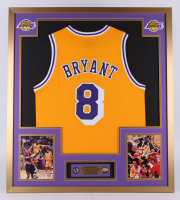 Kobe Bryant Los Angeles Lakers 32x36 Custom Framed Jersey with (2) Lakers Pin