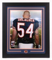 "Brian Urlacher Signed Chicago Bears 23.5x27.5 Custom Framed Photo Inscribed ""HOF 2018"" (JSA COA) at PristineAuction.com"