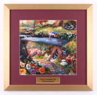 "Thomas Kinkade Walt Disney's ""Alice in Wonderland"" 17.5x18 Custom Framed Print"