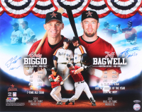 "Craig Biggio & Jeff Bagwell Signed Houston Astros 16x20 Photo Inscribed ""HOF 15"" & ""HOF '17"" (TriStar Hologram) at PristineAuction.com"