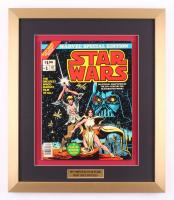 "Vintage 1977 ""Star Wars"" Issue #1 Marvel 17.5x20.5 Custom Framed Comic Book"