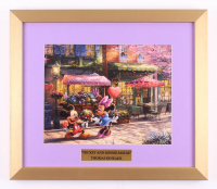 "Thomas Kinkade Walt Disney's ""Mickey & Minnie Mouse"" 15.5x18 Custom Framed Print"