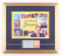 Disneyland 17x18.5 Custom Framed 1960 Guide Book Display with Ticket Booklet