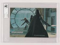 Ralph McQuarrie Signed 1995 Star Wars Mastervisions #28 / Vader vs. Luke (Beckett Encapsulated)
