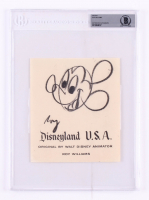 Roy Williams Signed Disneyland 6x7 Sketch (BGS Encapsulated)