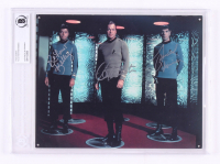 "William Shatner, Leonard Nimoy & DeForest Kelley Signed ""Star Trek"" 8x10 Photo (BGS Encapsulated)"