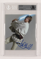"Mark Hamill Signed ""Star Wars"" 5.25x6 Photo (Beckett Encapsulated)"