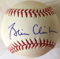 Bill Clinton Signed OML Baseball (PSA LOA)