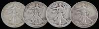 Lot of (4) Walking Liberty Silver Half-Dollars with 1941, 1942-D, 1943, & 1945-D