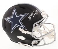 Leighton Vander Esch Signed Dallas Cowboys Full-Size Custom Matte Black Speed Helmet (Beckett COA)