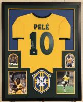 Pele Signed 34x42 Custom Framed Jersey (PSA COA) at PristineAuction.com