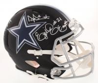 Dak Prescott, Ezekiel Elliott & Amari Cooper Signed Dallas Cowboys Full-Size Authentic On-Field Matte Black Speed Helmet (Beckett COA & Prescott Hologram) at PristineAuction.com