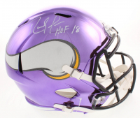 "Randy Moss Signed Minnesota Vikings Full-Size Chrome Speed Helmet Inscribed ""HOF 18"" (JSA COA)"