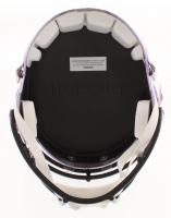 """Randy Moss Signed Minnesota Vikings Full-Size Chrome Speed Helmet Inscribed """"HOF 18"""" (JSA COA) at PristineAuction.com"""