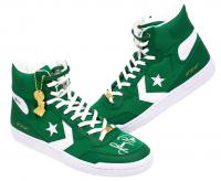 Larry Bird Signed Boston Celtics Converse Fast Break Basketball Shoes (Beckett COA)