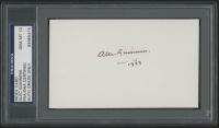 "Alec Guinness Signed 3x5 Index Card Inscribed ""1933"" (PSA Encapsulated)"