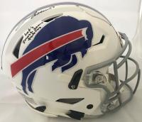 "Josh Allen Signed Buffalo Bills Full-Size Authentic On-Field Speedflex Helmet Inscribed ""Let's Smash Some Tables"" (Beckett COA)"