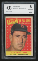 1958 Topps #485 Ted Williams AS (BCCG 8) at PristineAuction.com